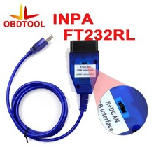 New Arrivel Blue for BMW INPA K+CAN with FT232RL Chip with Switch, Works for BMW with 8 Pin and With K-LINE Protocol.