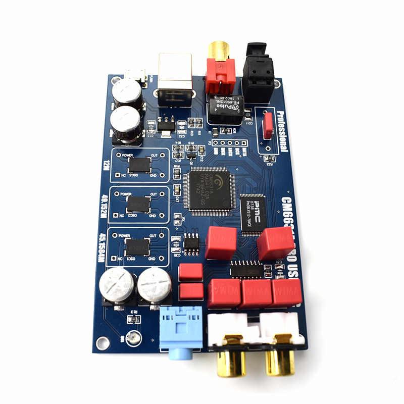 CM6631A デジタルインタフェース USB に I2S/SPDIF 同軸出力 32/24Bit 192 k + Shel Dac デコード T0082