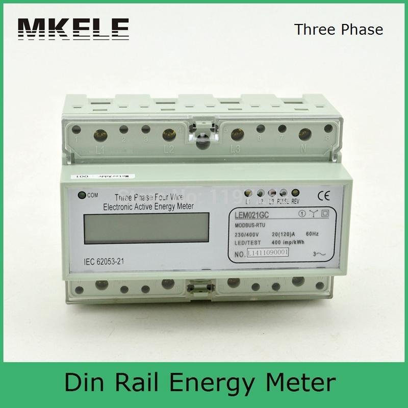 Modbus RTU Din Rail MK-LEM021GC portable digital LCD three phase energy meter din rail mounting load cell sensor amplifier rs485 modbus rw gt01de