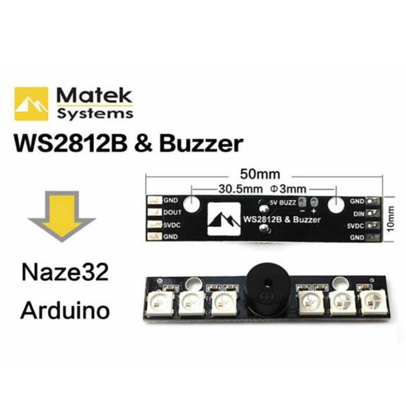 WS2812B LED Light & 5 V Buzzer 6 RGB Chips LED Indikator untuk NAZE32 Skyline32 Gratis Belanja