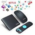 Uhuru inteligente android tv box con wifi 4 k 8g quad core tv box kodi netflix precargado con el envío ratón inalámbrico