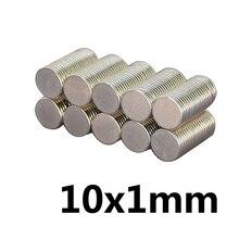 50 шт. неодимовый магнит 10 мм * 1 мм Сильный редкоземельных неодимовые магниты 10*1 мм Неодимовый Постоянный Круглый Магнитный 10 мм x 1 мм N35