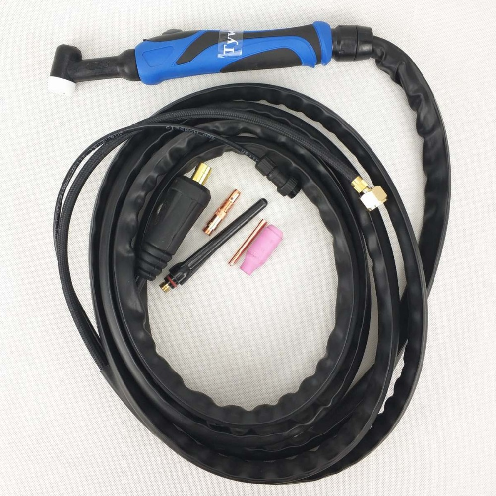 WP26 TIG Torch TIG26 Argon Welding Torch 4 meters 13ft Air Cooled torch for 180A-220A TIG Welding Machine