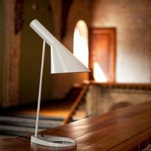 Replica Louis Poulsen Arne Jacobsen AJ lámpara De mesa de Salón de Diseño Moderno Lámpara de Escritorio Para El Dormitorio, Estudio, oficina blanco negro