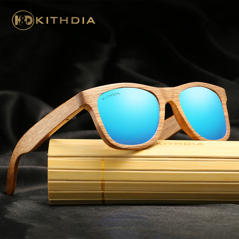 396a0369e42 KITHDIA Handmade Polarized Bamboo Sunglasses Men Wooden Sunglasses Brand  Designer Mirror Sun Glasses Oculos de sol
