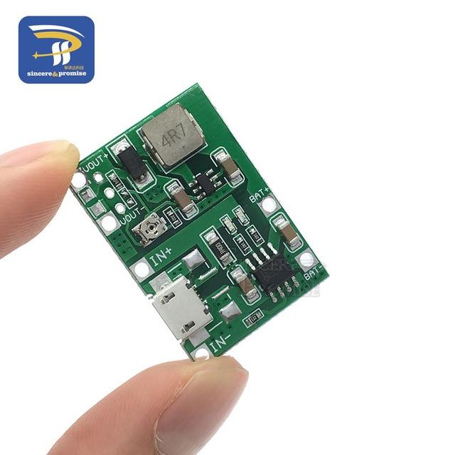 Lithium Li-Ion 18650 3.7 V 4.2 V Batterij Oplader Board DC-DC Step Up Boost Module TP4056 DIY Kit Onderdelen