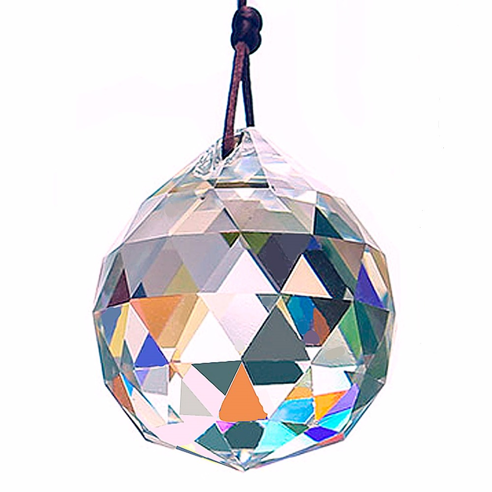 Clear 50mm Crystal Window Suncatcher DIY Prisms Making Chandelier Parts Hanging Home Decoration Wediing Decor