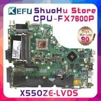 SHELI X550Z For ASUS X550ZE X550Z VM590Z K555Z X555Z CPU FX6700P LVDS laptop motherboard tested 100% work original mainboard