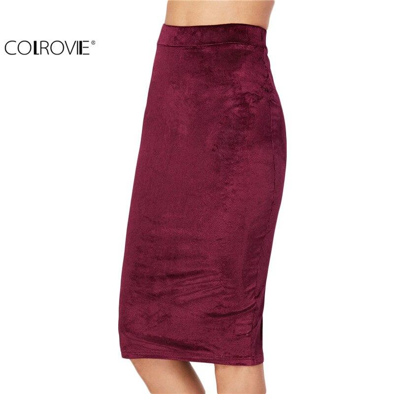 get cheap burgundy pencil skirt aliexpress