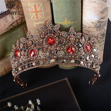 CC coronas tiaras diademas de diamantes de imitación estilo barroco vintage desfile accesorios para el cabello de boda para novias joyería fina regalo HG803