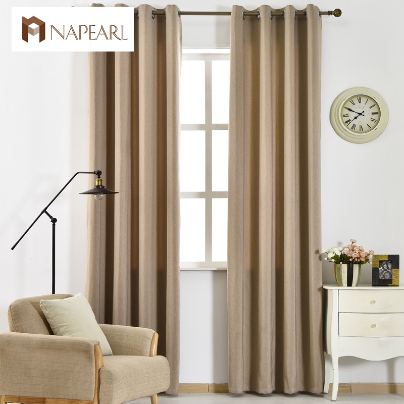 Blackout Curtains Modern Living Room Curtain Solid Color Drape Window Treatments Ready Made Full Shade Hotel