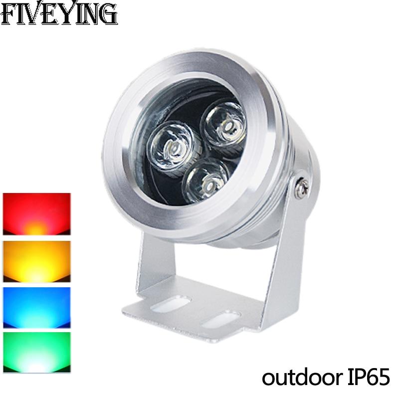 outdoor 3W LED flood light silver AC85-265V DC12V waterproof IP65 Floodlight Spotlight Outdoor Lighting Gargen Lamp