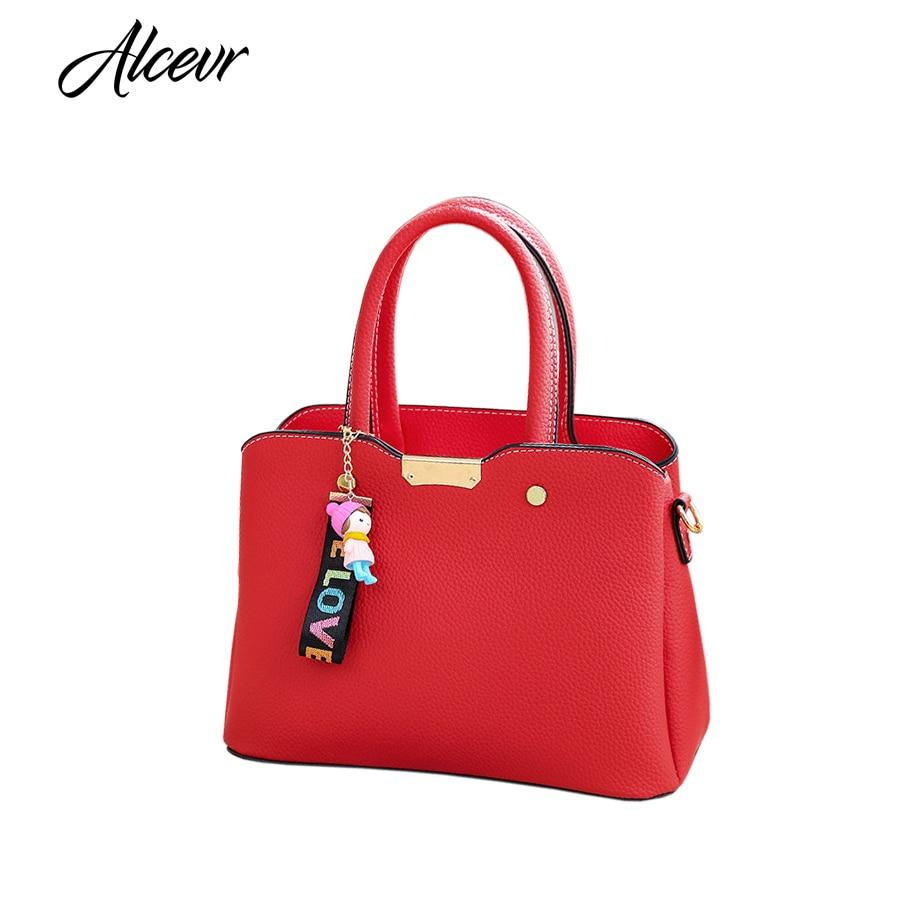 ALCEVR Versatile Female Designer Women Shopping Handbag PU Leather Pendant Women Shoulder Bag Women Crossbody Bag Bolsa Feminina