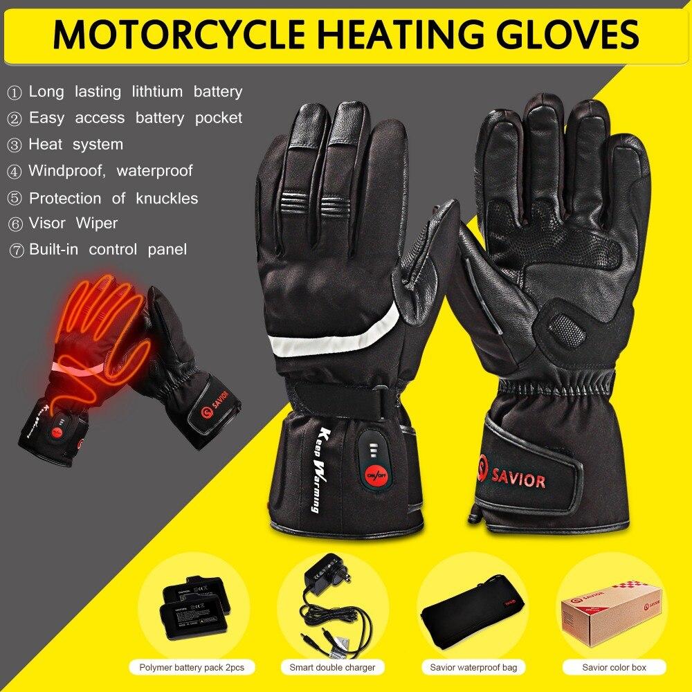 SALVATORE CALORE Moto Outdoor Elettrico Guanti Riscaldati Batteria Ricaricabile Hands Warmer pesca Impermeabile Equitazione Corsa calda