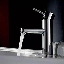 BAKALA bathroom mixer faucet ceramic chrome single hole bathroom faucet hot and cold water tap mixer