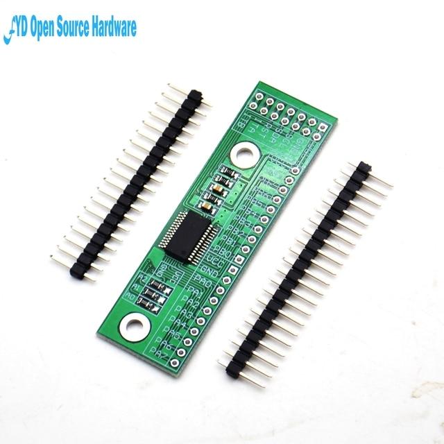 1pcs MCP23017 I2C Interface 16bit I/O Extension Module Pin Board IIC to GIPO Converter 25mA1 Drive Power Supply for Arduino