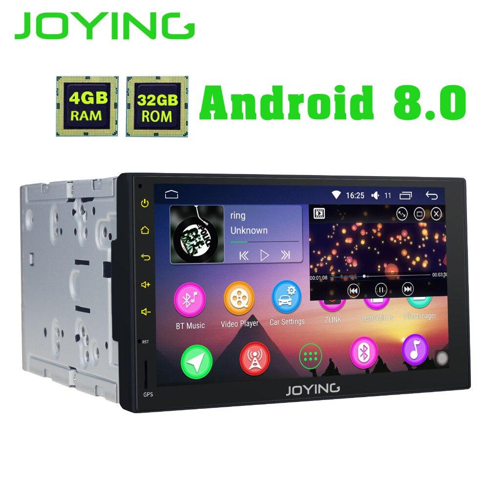 все цены на JOYING Octa 8 Core Android 8.0 4GB RAM 7'' 32GB ROM Support WIFI Carplay Car GPS 2 din Universal car Radio HD player head unit онлайн