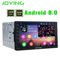 JOYING Octa 8 Core Android 8.0 4GB RAM 7'' 32GB ROM Support WIFI Carplay Car GPS 2 din Universal car Radio HD player head unit