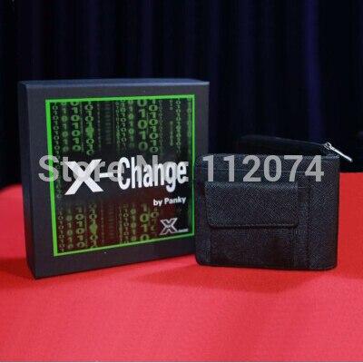 X-change portefeuille tours de magie apparaissant/disparaissant du portefeuille scène Illusion Gimmick accessoires accessoires