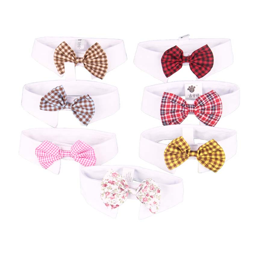 2017 Hot Sales Pet Supplies Cats Dog Tie Wedding Accessories Dogs Cute Bowtie White Collar Holiday Decoration Christmas Grooming