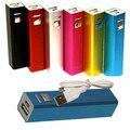Envío Gratis 2600 mAh USB Portátil Cargador de Batería de Reserva Externa Power Bank para el Teléfono Móvil