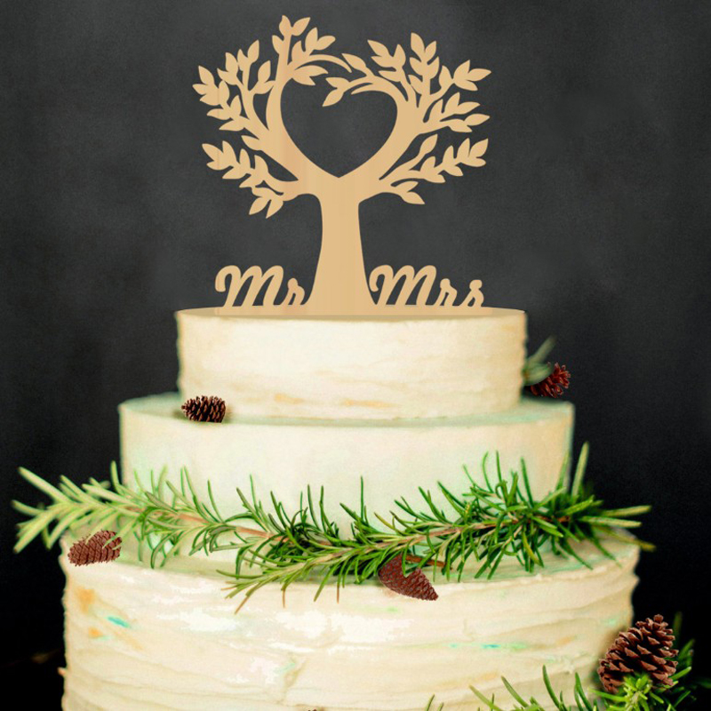 Heart tree peach wood cake toppers couple wedding romantic cake heart tree peach wood cake toppers couple wedding romantic cake topper for wedding cake decorative accessories in cake decorating supplies from home junglespirit Image collections