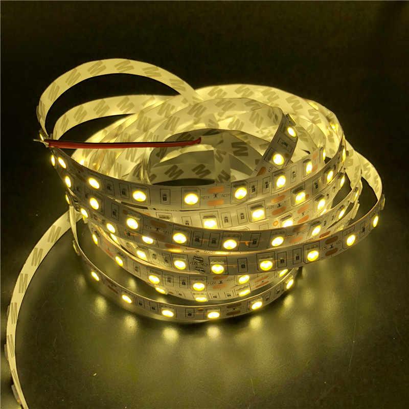 5050 led strip Trắng Ấm RGB Trắng 5 m fita de led băng diode thức ăn tiras ribbon Linh Hoạt 12 V led nhẹ với DC 12 V điện adapter