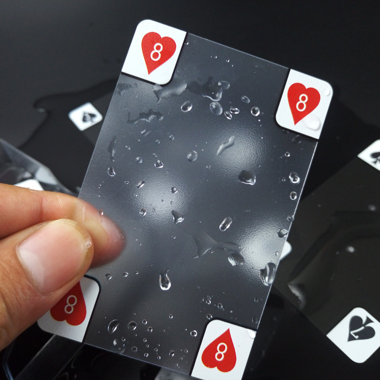 54PCS  New Transparent Waterproof PVC Poker Playing Cards Plastic Crystal Waterproof Wareable Ware Resistant