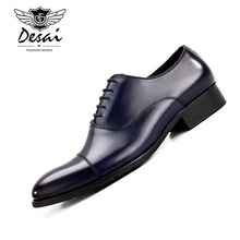 2019 New Brand Shoes Men Genuine Leather Business Dress Formal Mens British Style Cow Classic Black Oxfords