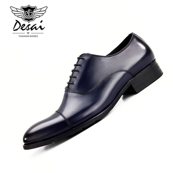 2019 New Brand Shoes Men Genuine Leather Business Dress Formal Shoes Men's British Style Cow Leather Shoes Classic Black Oxfords british style casual leather shoes men lace up round toe retro shoes spring summer oxfords cow leather pure black