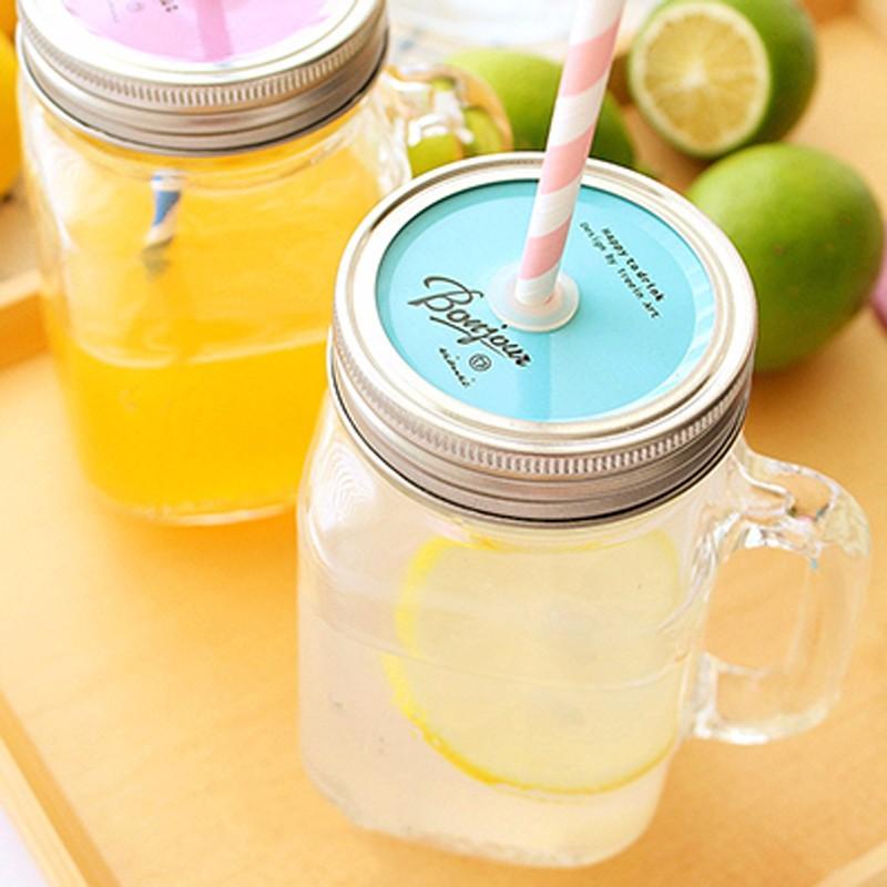 mlglass frasco de de vidrio tarro de albail taza con tapa botella de jugo