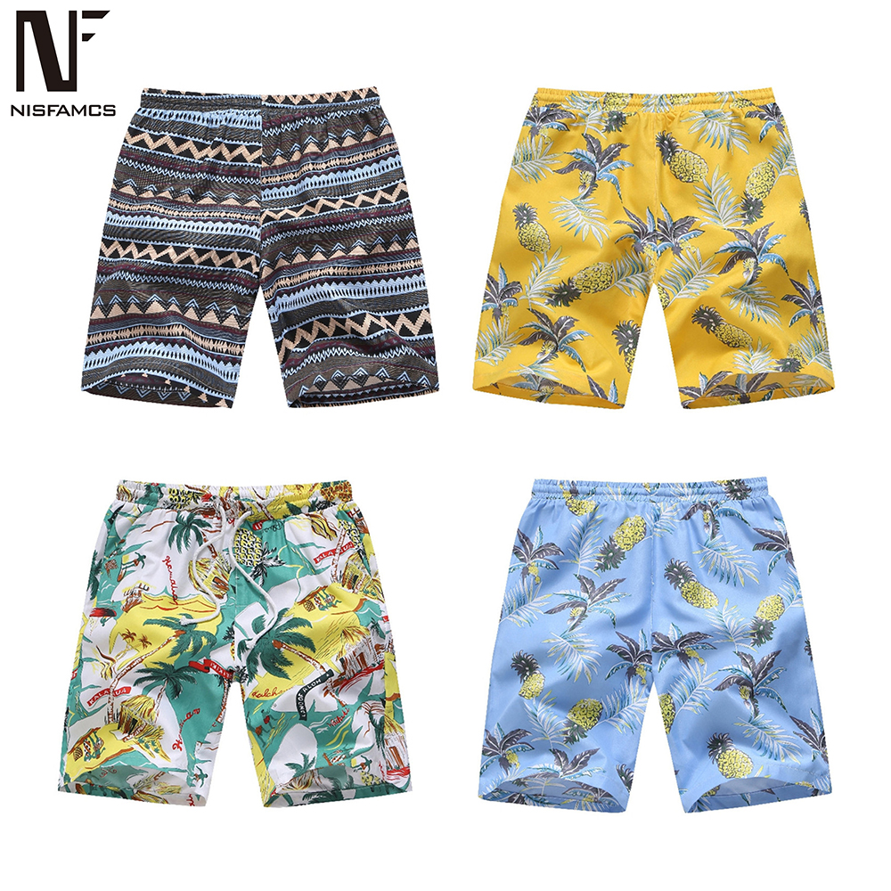 Sexy Beachwear Men Boardshort Fitness Quality Party Shorts Vintage Print Mens Shorts Hip Hop Cool Clothing 2020 Vintage Shorts