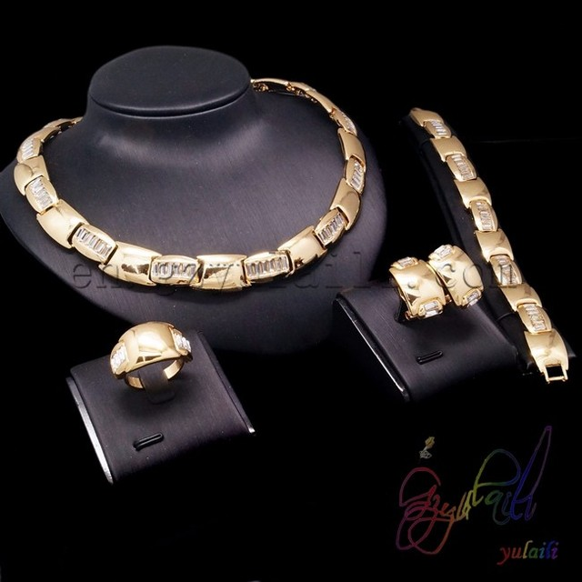 dubai gold jewelry set wedding jewellery designs indian style