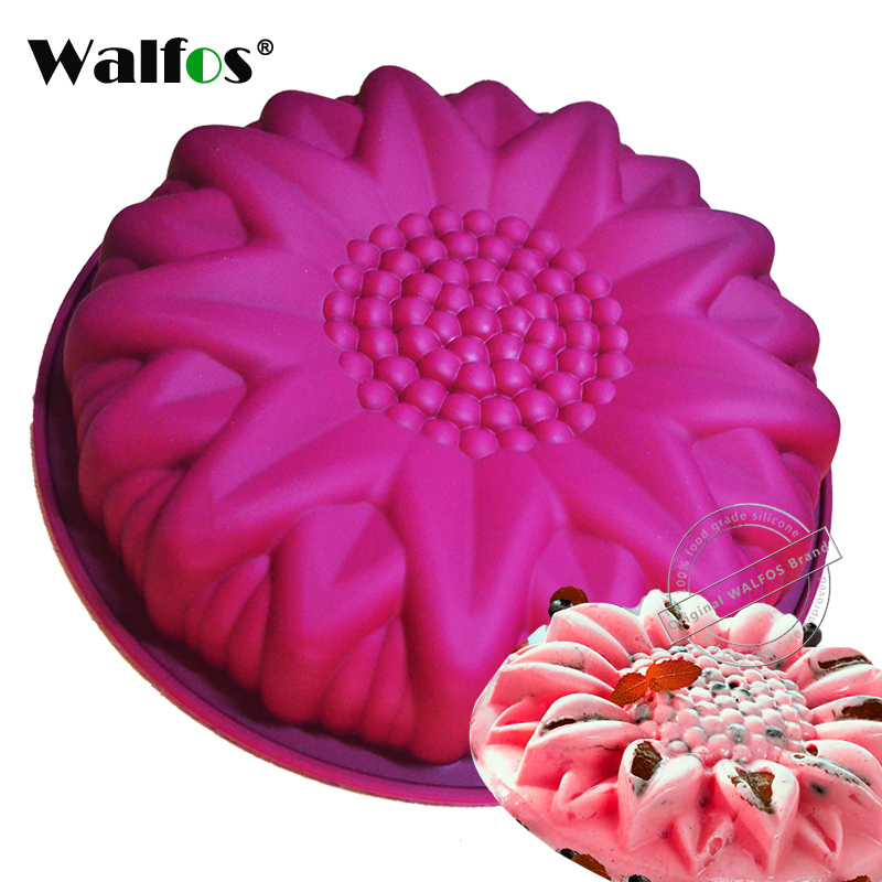 Walfos Big Silicone Cake Mold Dessert Mold Large Sunflower