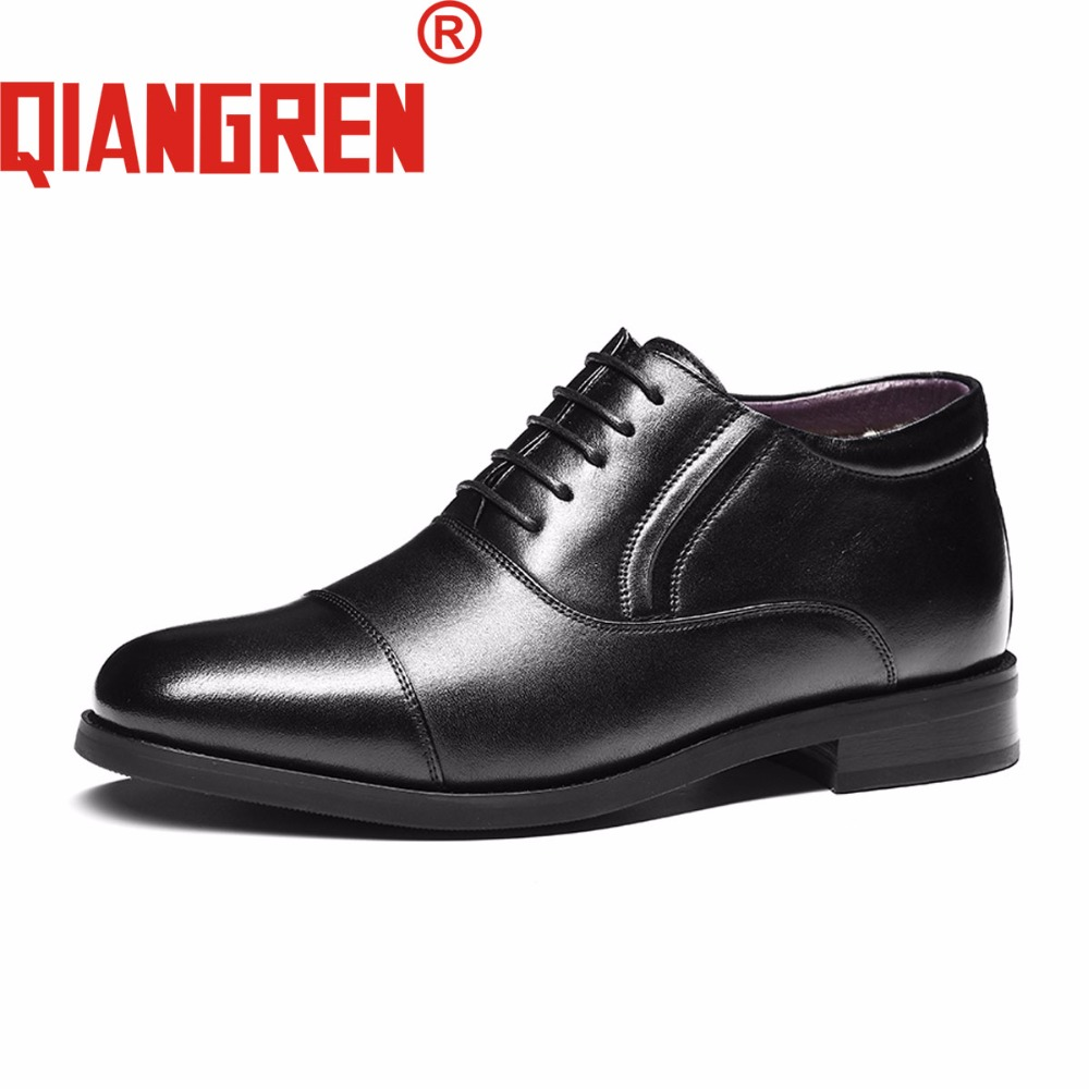 QIANGREN High-grade Quality Military Factory-direct Men's Winter Genuine Leather Wool Rubber Snow Boots Outdoors Dress Shoes new premium promotional yu europe d41x d341x flange rubber seal butterfly valves factory direct quality assurance