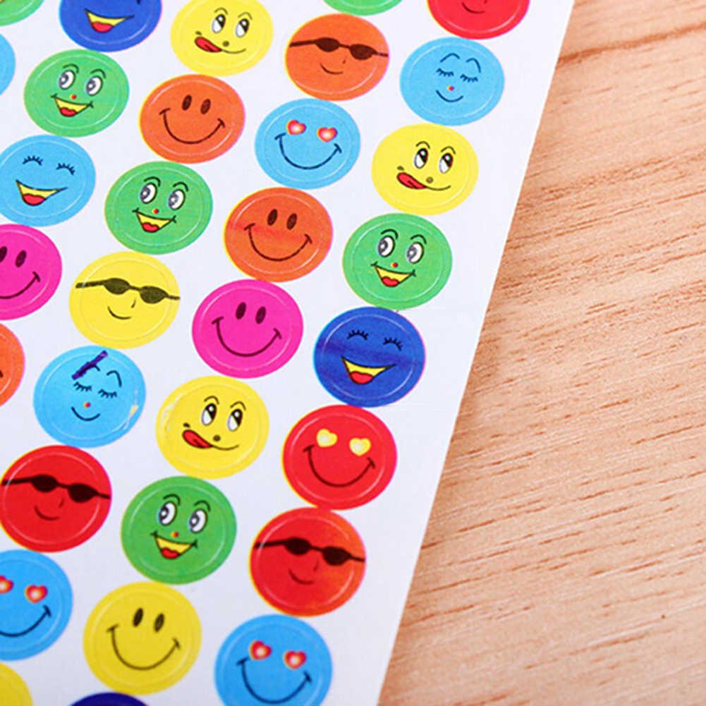 1120 قطعة مكافأة ابتسامة الحب القلب مدرسة المعلم الجدارة الثناء ملصقات الأطفال Face بها بنفسك الوجه ورقة لاصقة التسمية الكلاسيكية لعب للأطفال