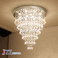J best price fashion Modern Luxury LED Lustres Crystal multi layers Chandelier Round Shape Ceiling Lamp Living Room droplight