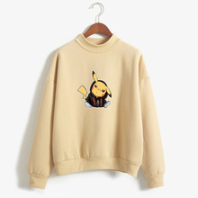 Pikachu Funny Cartoon Pokemon Fleece Hoodies Autumn New Products Women