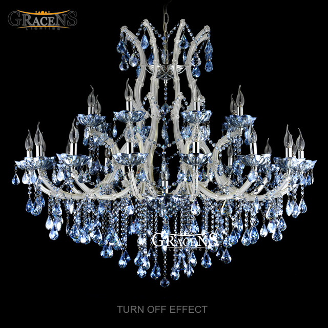 Wholesale Blue Color Crystal Chandelier Light Fixture Large Lustres - Wholesale chandelier crystals catalog