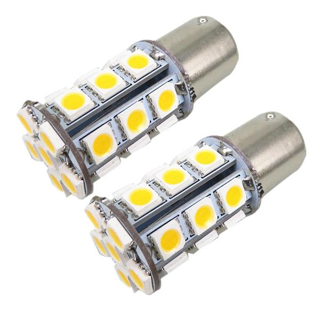 WLJH 4x Amber Warm White 12v BA15S LED 1156 Car External Turn Signal Light  Bulb For