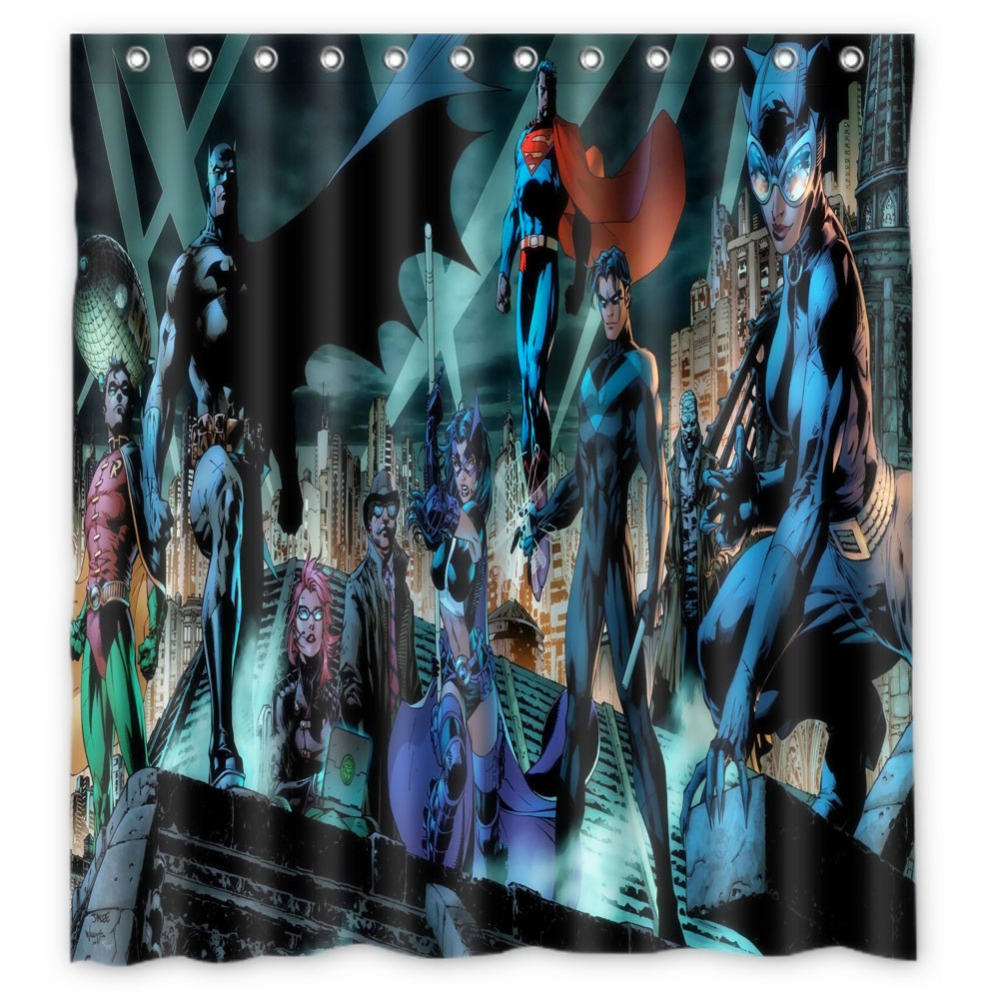 Fairy shower curtain - Anime Shower Curtain One Piece Dragon Ball Z Bleach Fairy Tail Naruto Together Batman Superman Wallpap