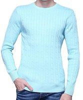 Autumn Winter Pull Homme O Neck Long Sleeve Slim Fit Crew Neck Long Sleeve Basic Cable