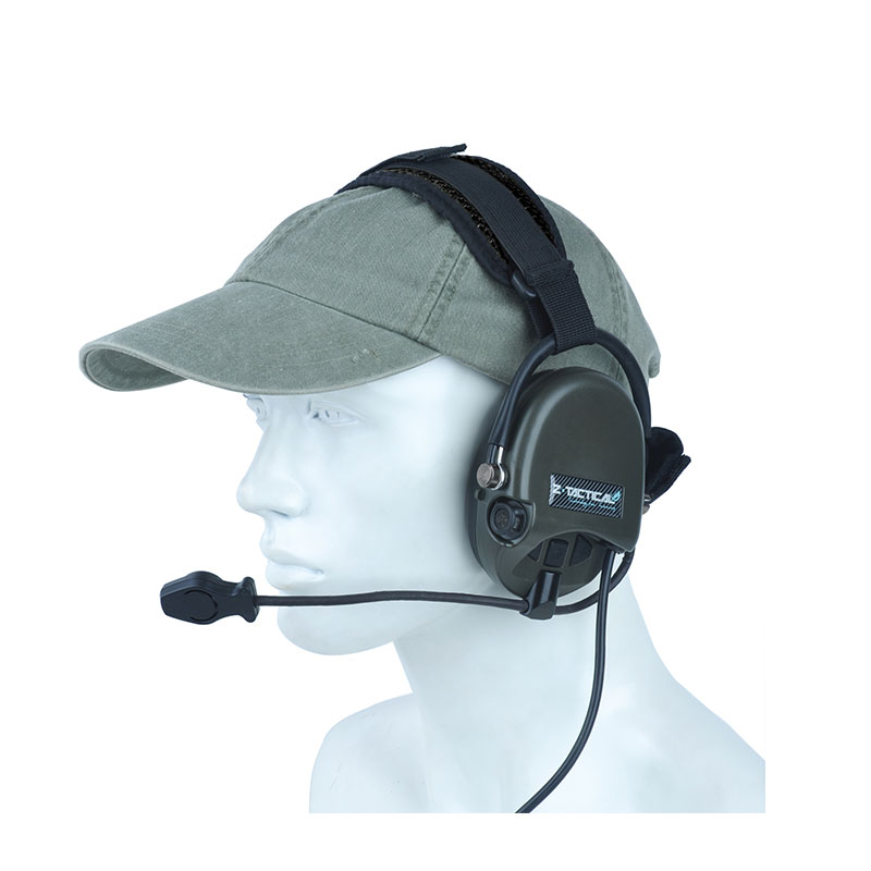 Z-tac Tactical Military Headset TCI LIBERATOR II Neckband Headset Z039 Noise Canceling Headphone Tactical Headsets & Accessories