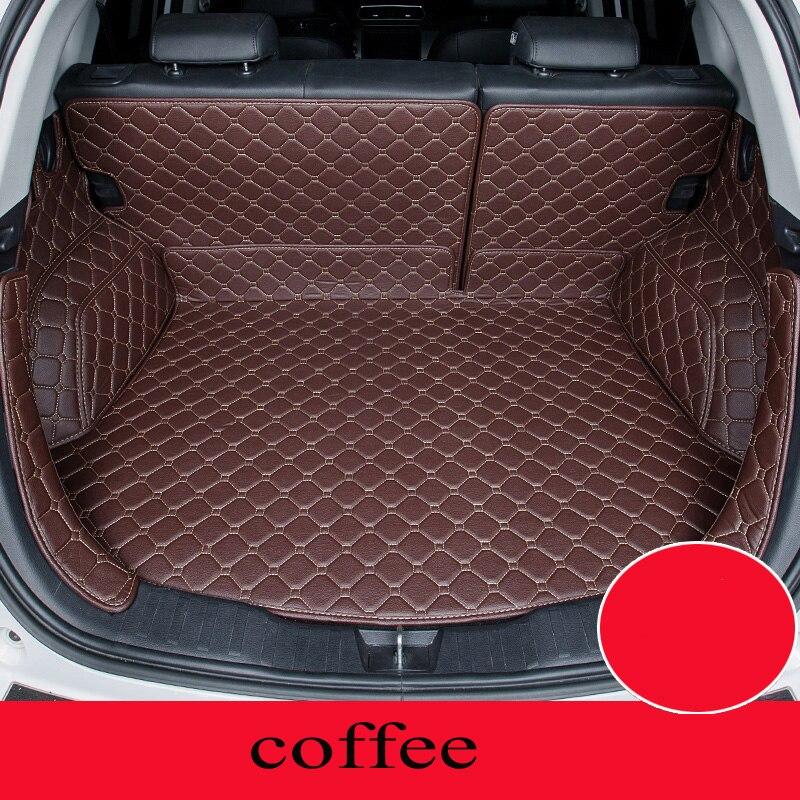 Personnalisé tapis de voiture tronc pour Nissan Tous Les Modèles qashqai x-trail tiida Note Murano Mars Teana voiture style Almera personnalisé cargo liner