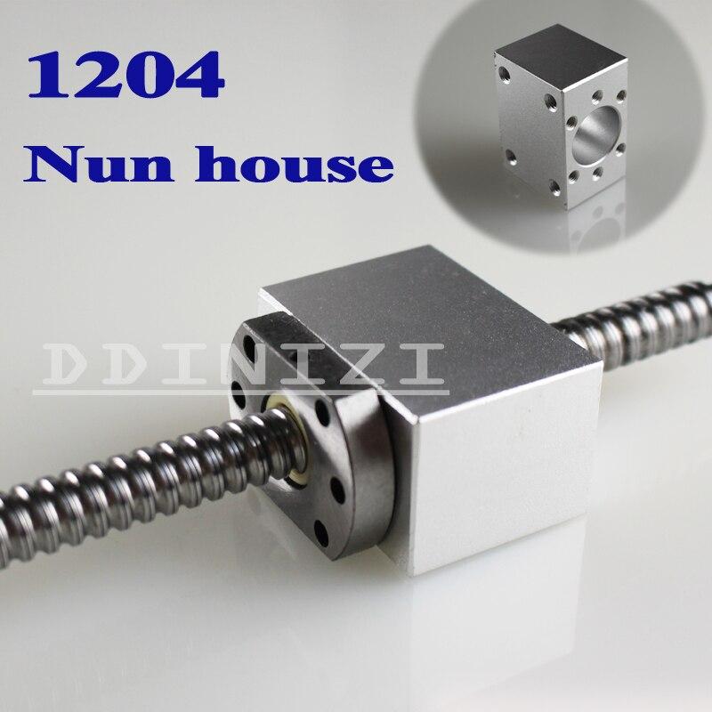 1 stücke SFU1204 Kugelumlaufspindel Mutter Gehäuse Aluminium Halterung Für CNC Kugelumlaufspindel Kugelmutter