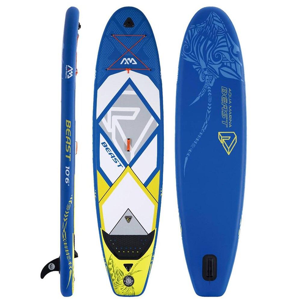 Aqua Марина зверь надувные 10'6 встать весло доска ISUP Надувное дополнительное весло доска для серфинга