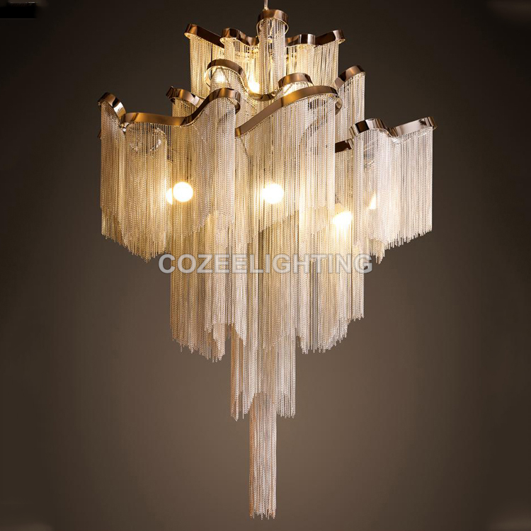 Modern Luxury Chandelier Lighting Aluminum Chain Candle Chandeliers Hanging Light for Home Hotel Restaurant Decoration тюбинги марвел marvel мстители надувные сани 85 см