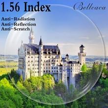 1.56インデックス非球面光学処方レンズCR 39近視老眼レンズメガネレンズ抗放射線反射2個BC001