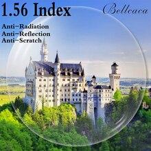1.56 Index Aspheric Optical Prescription Lens CR 39 Myopia Presbyopia Lens Glasses Lens Anti Radiation Reflection 2 PCS BC001