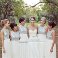 Gold Silver Sparkly Sequins Long Nigerian Bridesmaid Dresses 2016 Chiffon Cheap Wedding Party Dresses Prom Gowns Vestidos